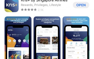 Pay with Singapore Airlines Kris+ App and earn extra 30% miles-back instantly